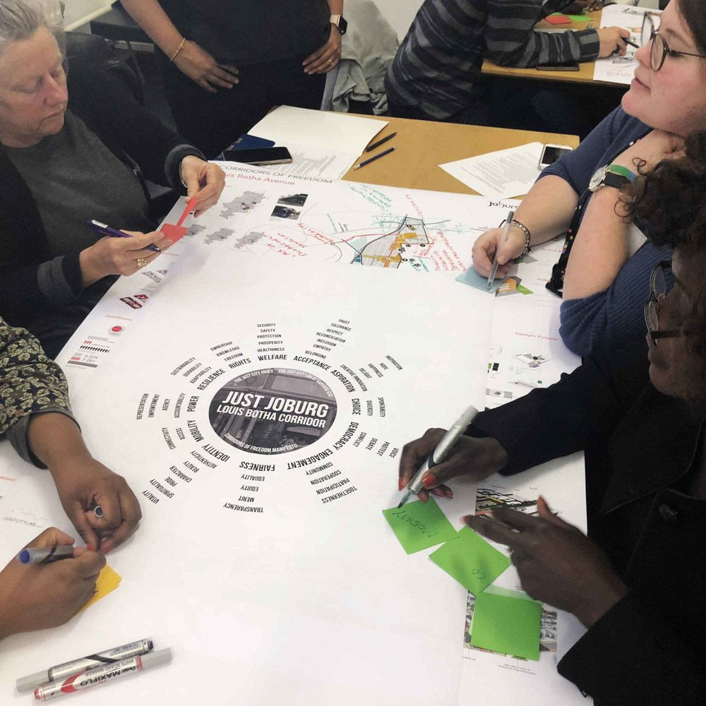 JOHANNESBURG | MAY 2018 - Workshop at Wits Institute, focused on the Corridors of Freedom project