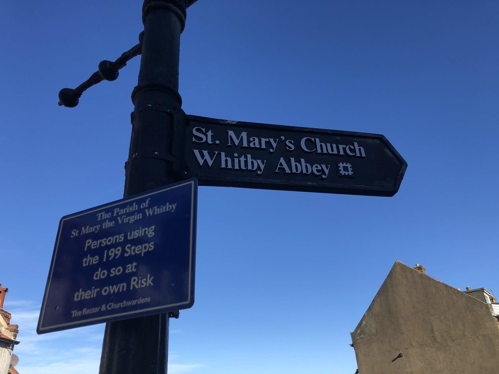 Whitby Abbey Sign