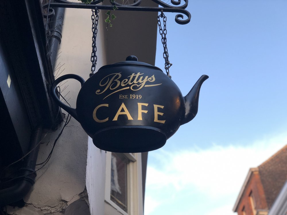Betty's Tearoom Teapot Sign Betty's Stonegate