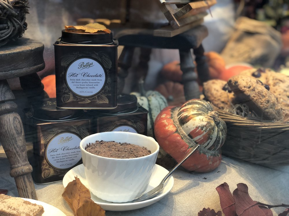 Hot Chocolate Autumn Display Betty's