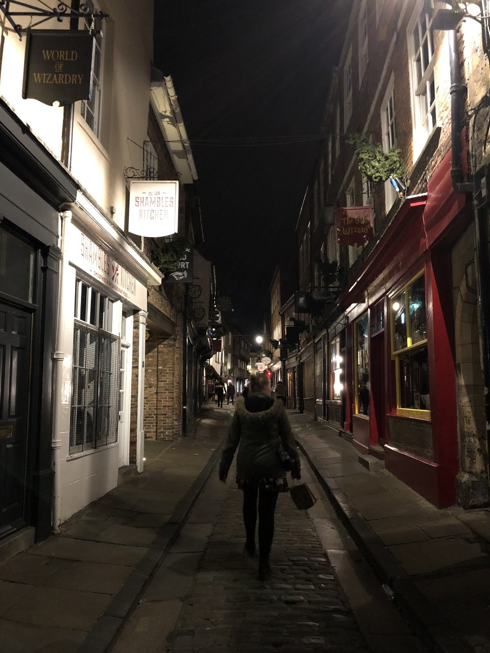 The Shambles York on Halloween Night