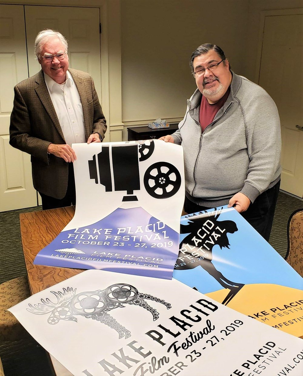 It takes time… - to create a film festival for 2019 that will be better than the last!  Gary (left) and Nelson (right) take a break from another LPFF2019 Planning Meeting at the Desmond Hotel in Albany, NY.  Gary Smith is the 2019 Festival Director and Adirondack Film Society Vice-Chairman and Nelson Page is the Chairman & President of the Adirondack Film Society.