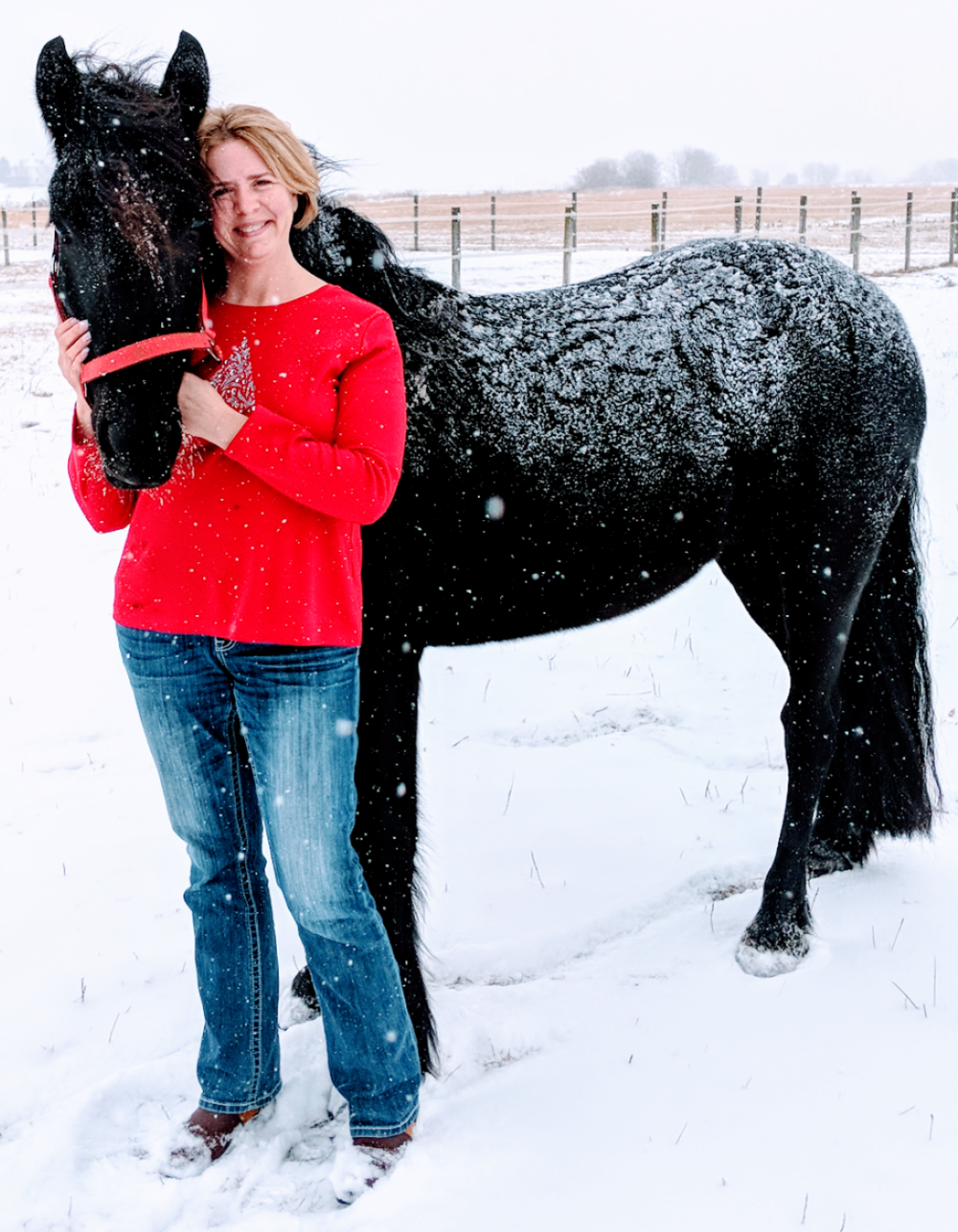 2011 partbred mare  Raspotnik Pine Raven  with owner Jennifer Bott Langguth