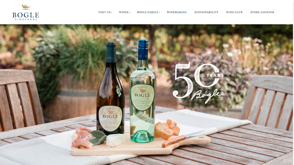 Bogle Vineyards: Fresh Takes on Family Heritage - Account Direction & Project Management: Website Design, Development & Content Creationwww.boglewinery.com