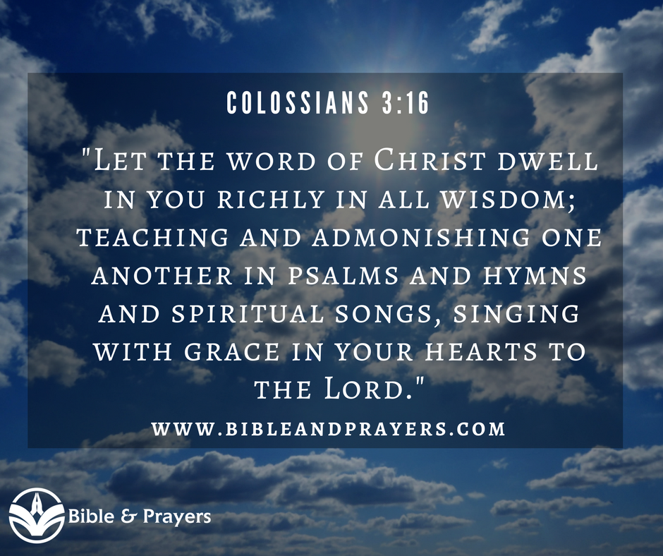 Bible Verse Colossians 3-16