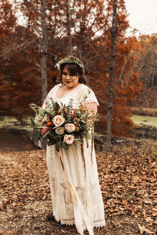 relaxed fall elopement