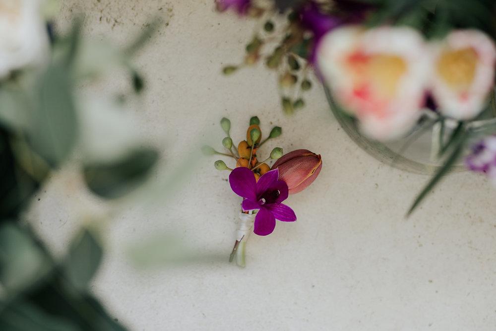 Cape Town wedding florist boutoniere