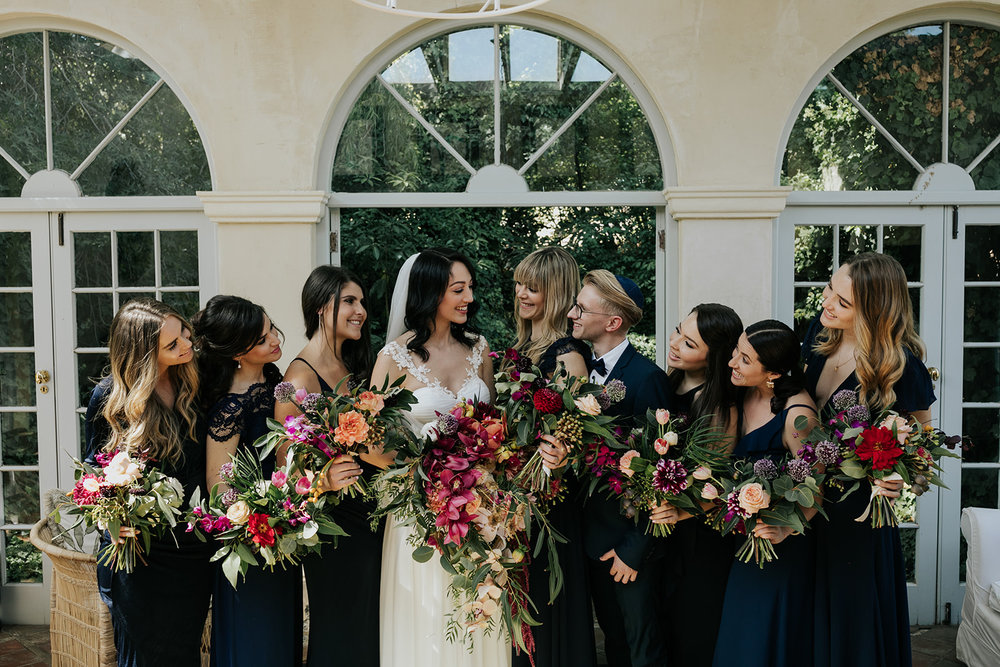 Cape Town wedding florist bridal retinue