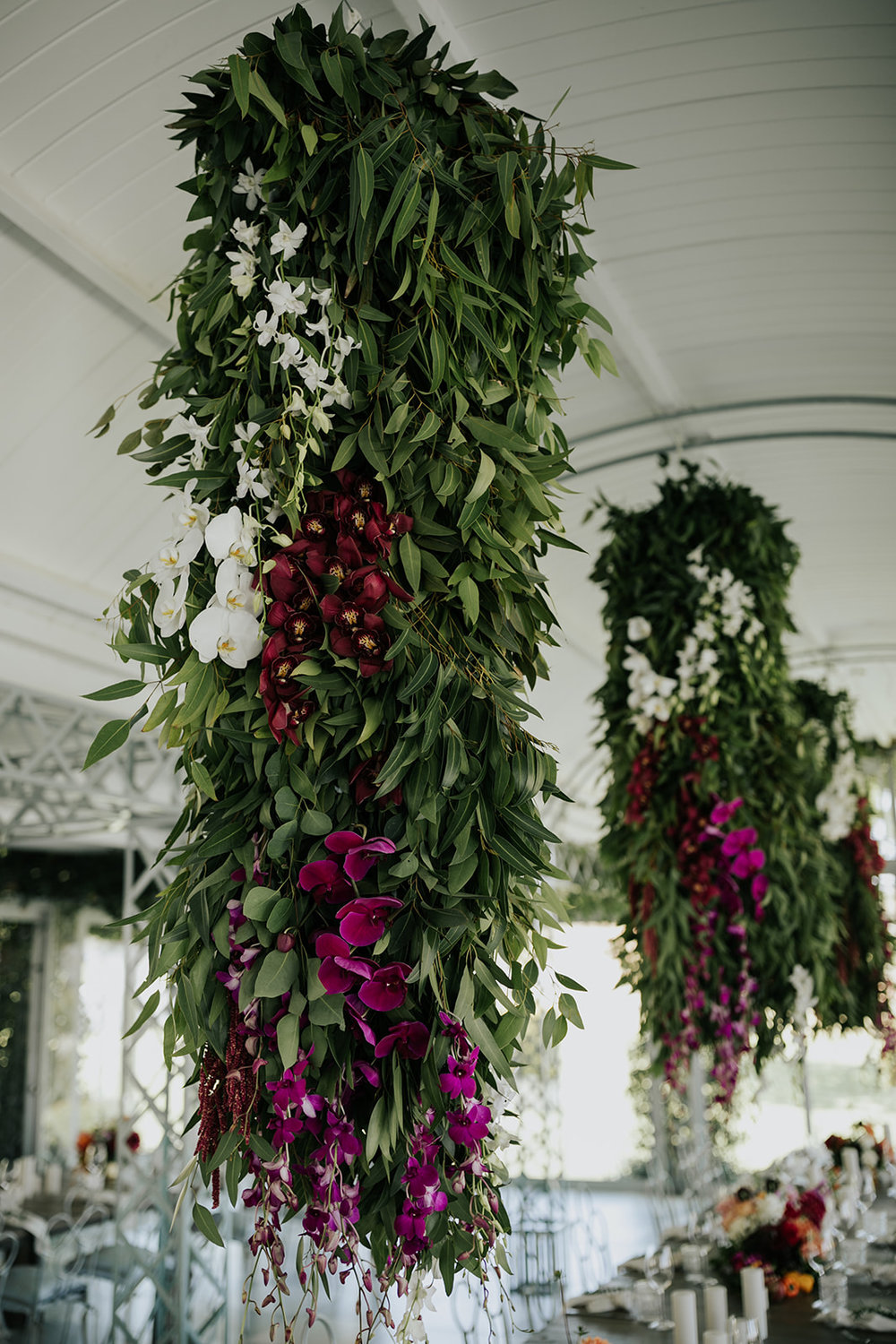 Cape Town wedding hanging flowers