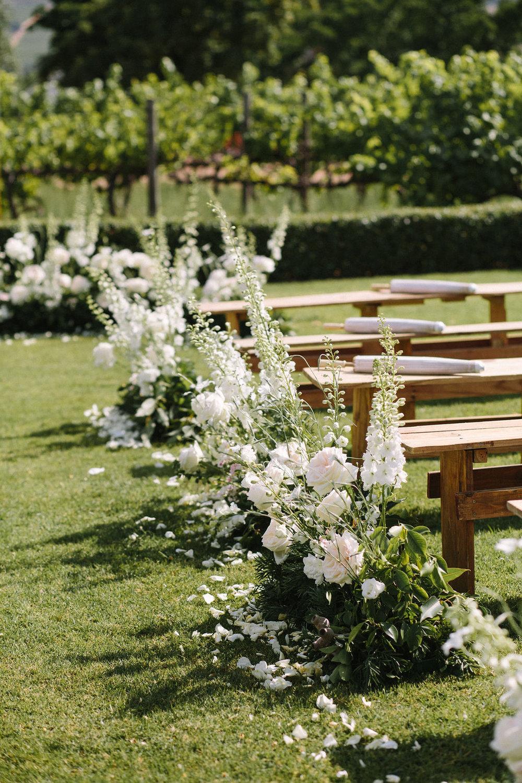 floral aisle wedding Wildeflower 1