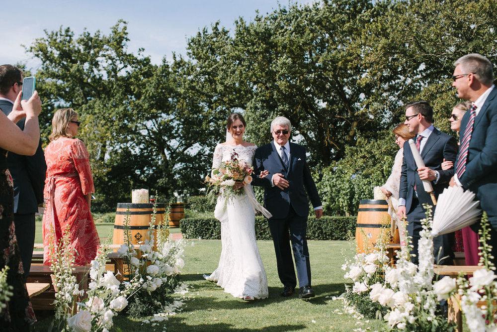 floral aisle wedding Wildeflower 7