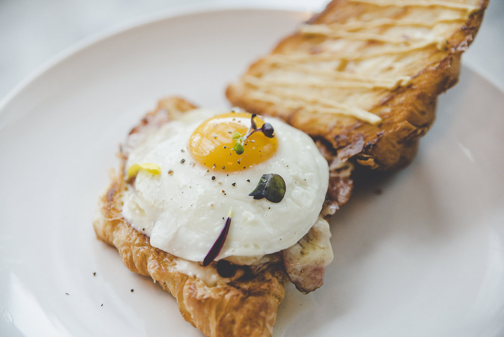 Croque Madame on Croissant