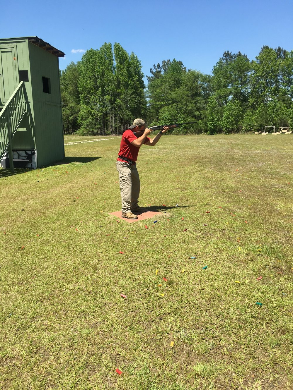 Warm up before your hunt with skeet shooting.