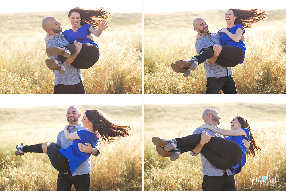 Engagement Photography Services in Orange County, CA - Engaged couple, future husband carrying his future bride in his arms.