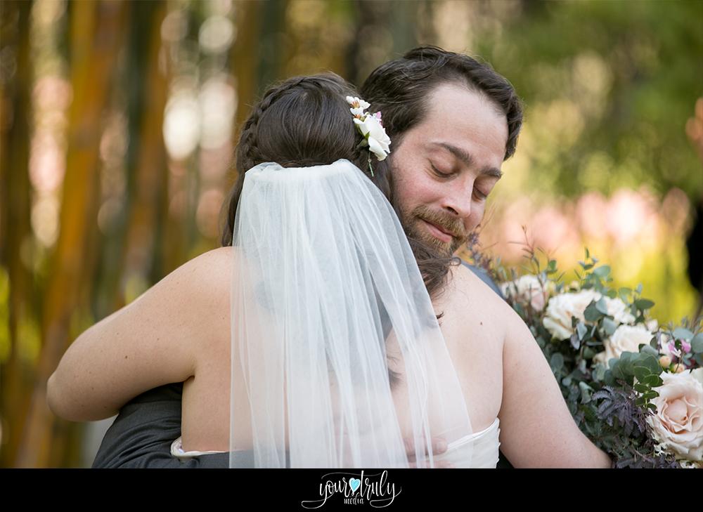 Wedding Photography Packages - San Diego, CA - Japanese Friendship Garden - Groom hugging his bride.