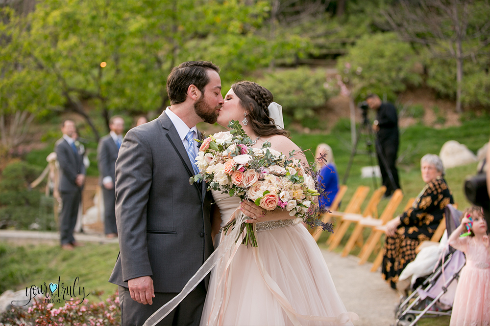 Wedding Photography Packages - San Diego, CA - Japanese Friendship Garden -Groom kissing his bride.