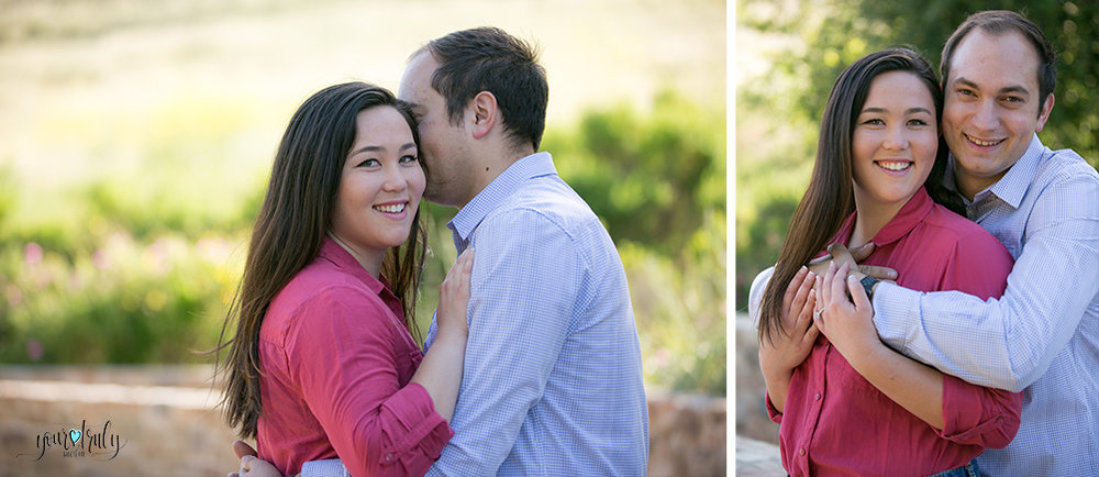 Engagement Photography Services, Orange County, CA - Engaged couple hugging.