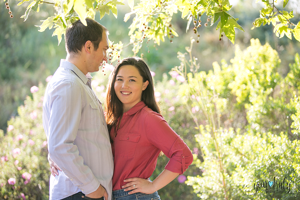 Engagement Photography Services, Orange County, CA - Engaged couple smiling at the camera.