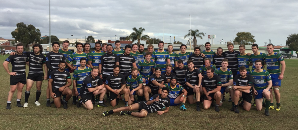 """All grades at UWA v Perth in Green armbands to support """"our rugby brother Conor""""."""