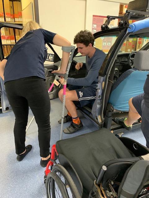 Practising car transfers