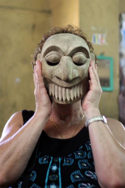 Ariyapala Masks Museum  - Mom with Mask