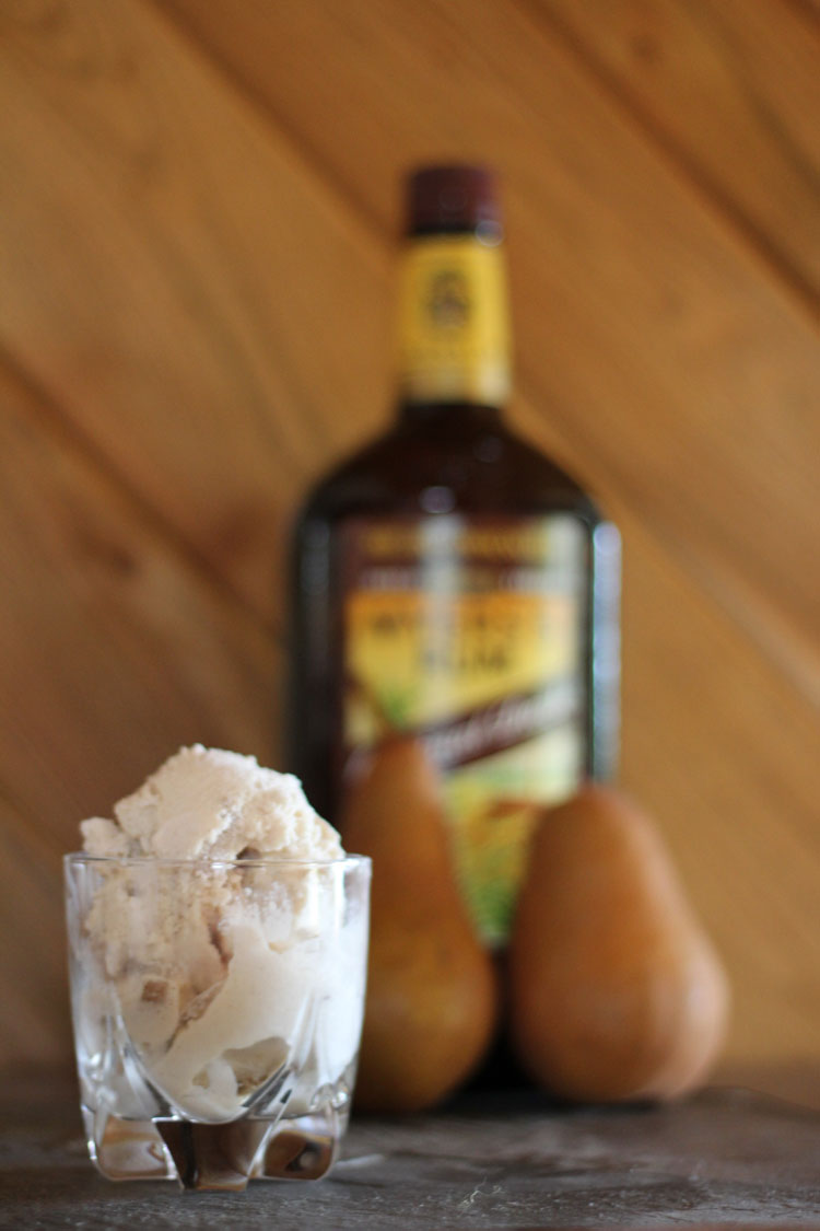 Vanilla Rum Ice Cream with Rum-Candied Pears