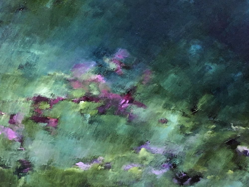 """Magenta Viridian Meadow"" 