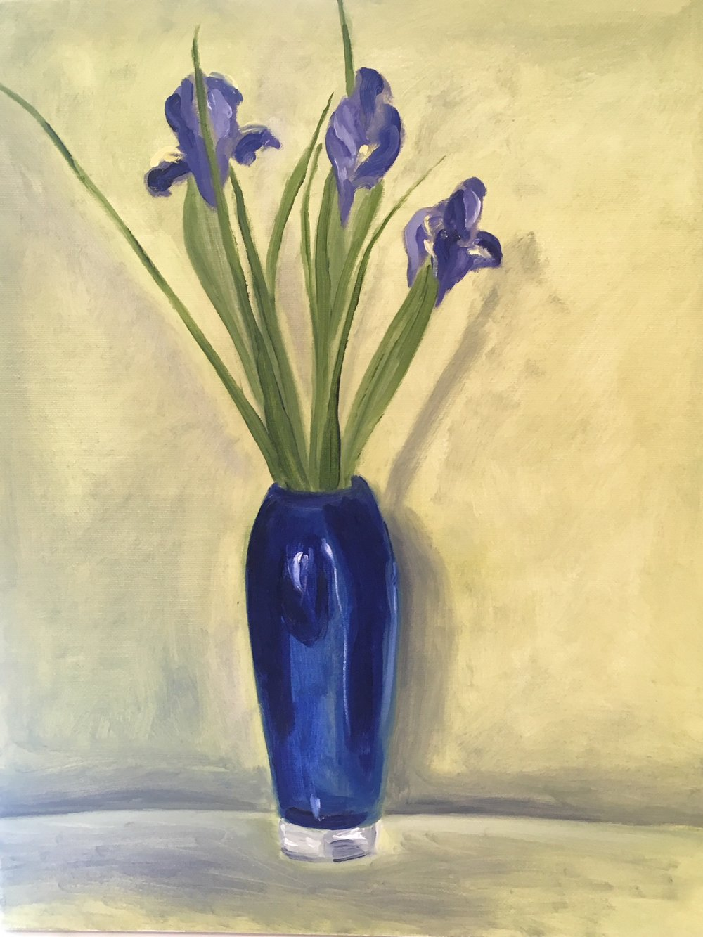 """Blue Glass Irises"" 
