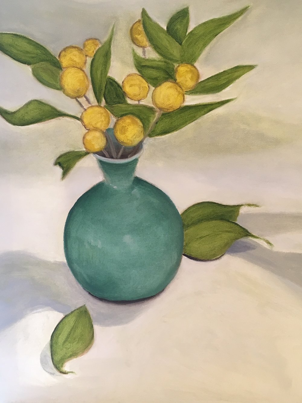 """Yellow Celadon Leaves"" 
