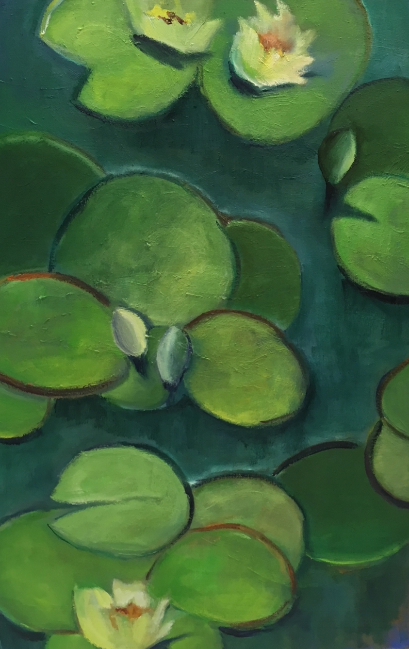"""""""Yellow Water Lilies Giant Pads""""  