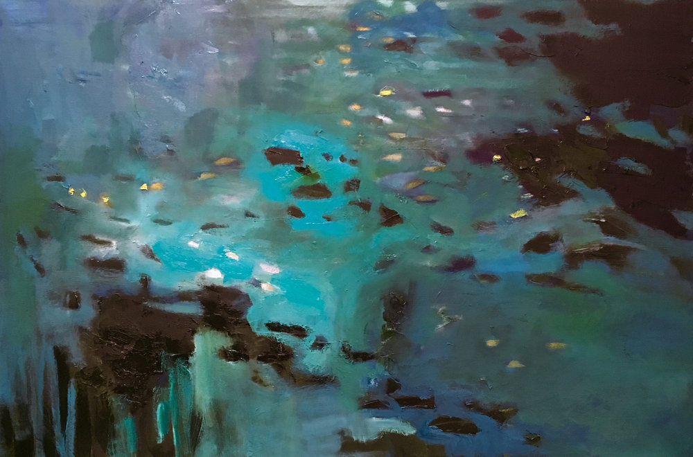 """Deep Black Turquoise Pools"" 