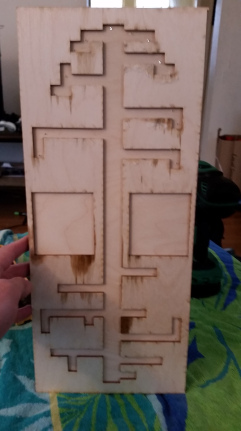 Back after all pieces had been glued together