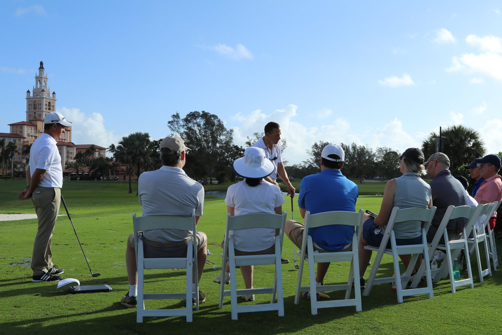 3 Day School - Available Every Tuesday-Thursday and Friday-SundayThis school is our most popular program and offers the most comprehensive itinerary for total game improvement. Many players will take 5 shots off their handicap while applying the system used in this golf school. Do yourself a favor this golf season and get prepared to play the best golf of your life!-20 Hour Program-3:1 Student to Instructor Ratio-School Led by a Master or Lead Master Instructor-Digital Video Swing Analysis-TrackMan® Launch-Monitor Analysis-Personalized Instruction Video with Voice-over from your Instructor-Jim McLean Workbook-Includes lunch at The Biltmore on the first two days-On Course InstructionDay 1: — 8:00am-3:00pmDay 2: — 8:00am-4:00pmDay 3: — 8:00am-1:00pm$2,995 per player