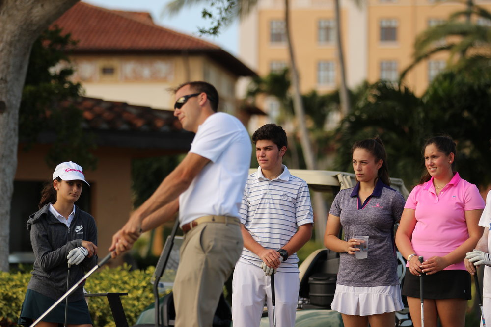 High School - This junior golf program is designed to help the current or aspiring high school golfer accomplish your golfing goals. It is very different than anything we have done in the past. The problem with most conventional golf lessons for juniors is that there is too much emphasis on fixing swing faults and not enough time spent on skill development. Supervised and structured practice is the key to improvement!Recommended for juniors who can break 50 for 9 holes and who want to learn or improve their golf game are invited. Students train in groups of players with similar age and ability. You can join the program at any time.Skill level: Break 50 for 9 holesClass Schedule: Every Monday-Friday 4:00pm-6:00pmCost: $500 per month