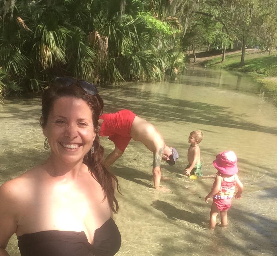 Playing in the lagoon of Wekiva Falls RV Resort near Sorrento, FL (Feb 2017)