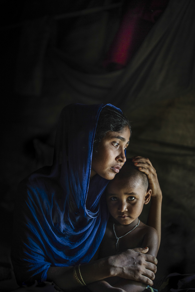 Rohingya women who lost her husband due to military violence, Cox Bazar / Bangladesh - 2017