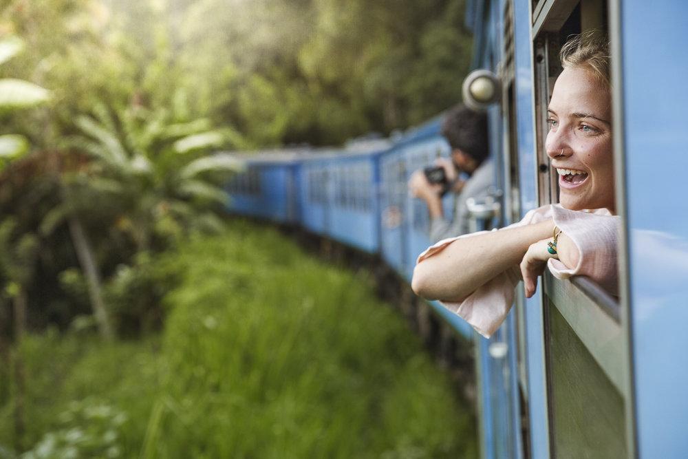 Train ride, Sri Lanka