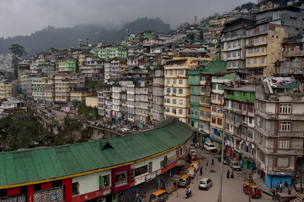 Gangtok, capital of Sikkim / India