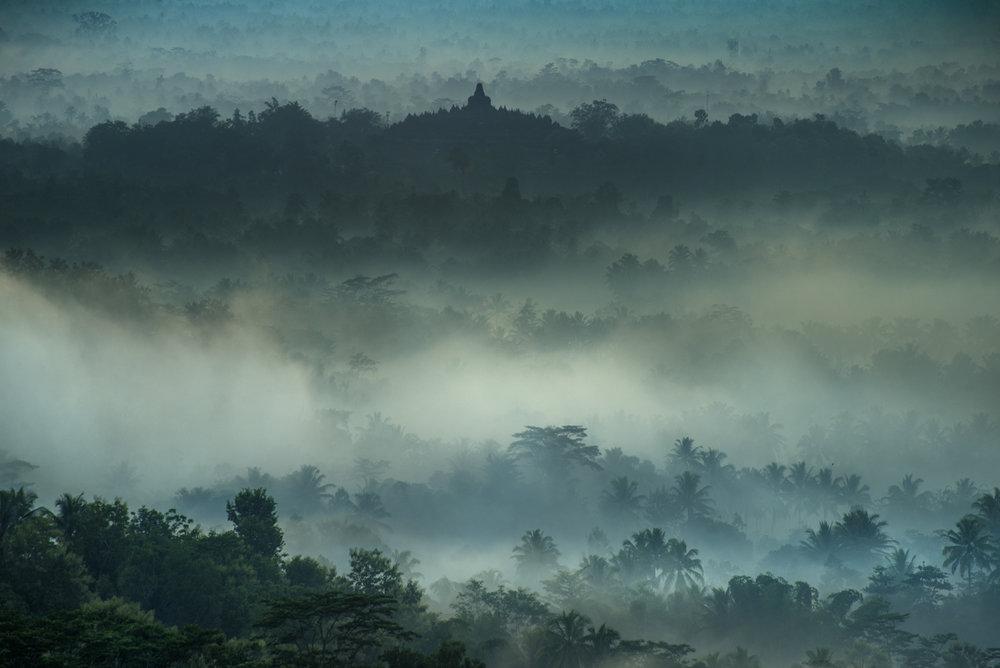 Barabudur, 9th-century Buddhist temple, Java/ Indonesia