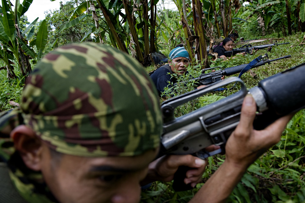 The communist rebels, NPA, training for battle in the jungles of Mindanao / Philippines - 2010