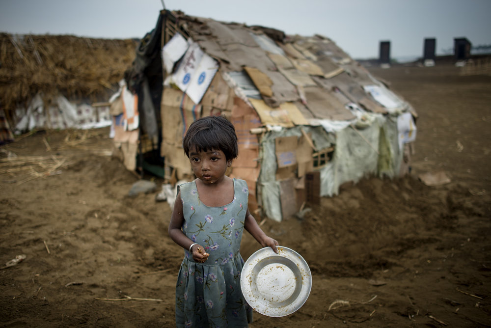 Rohingya girl in one of the many unregistered IDP camps, Sittwe, Rakhine state, Burma - 2013