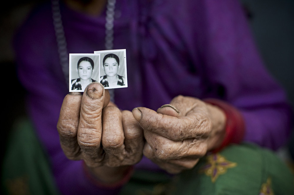 Picture of abducted female in remote village in Nepal - 2009