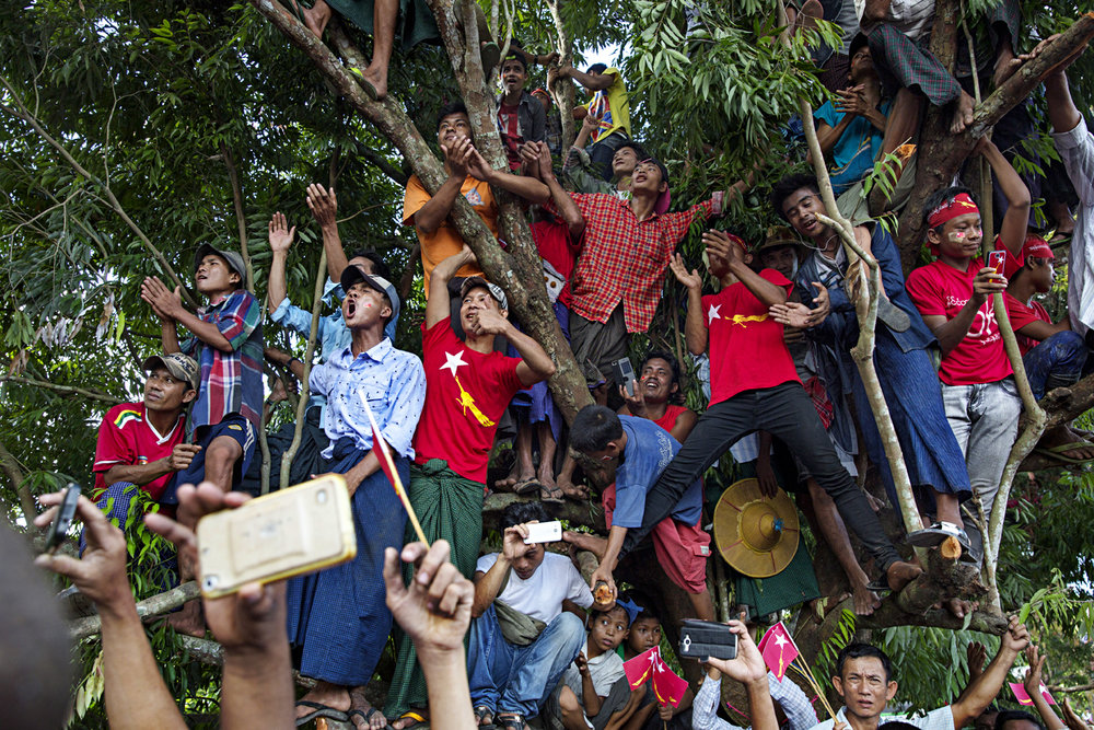 NLD and Aung San Suu Kyi supporters shows their support for the forthcoming general elections / Burma - 2015