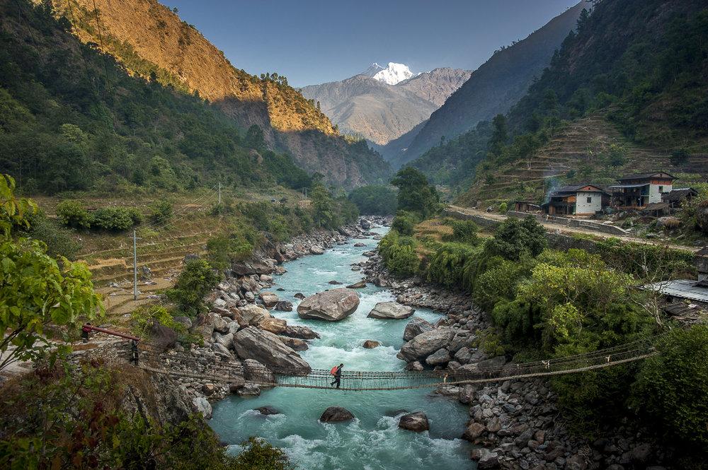 Himalayan valley / Nepal