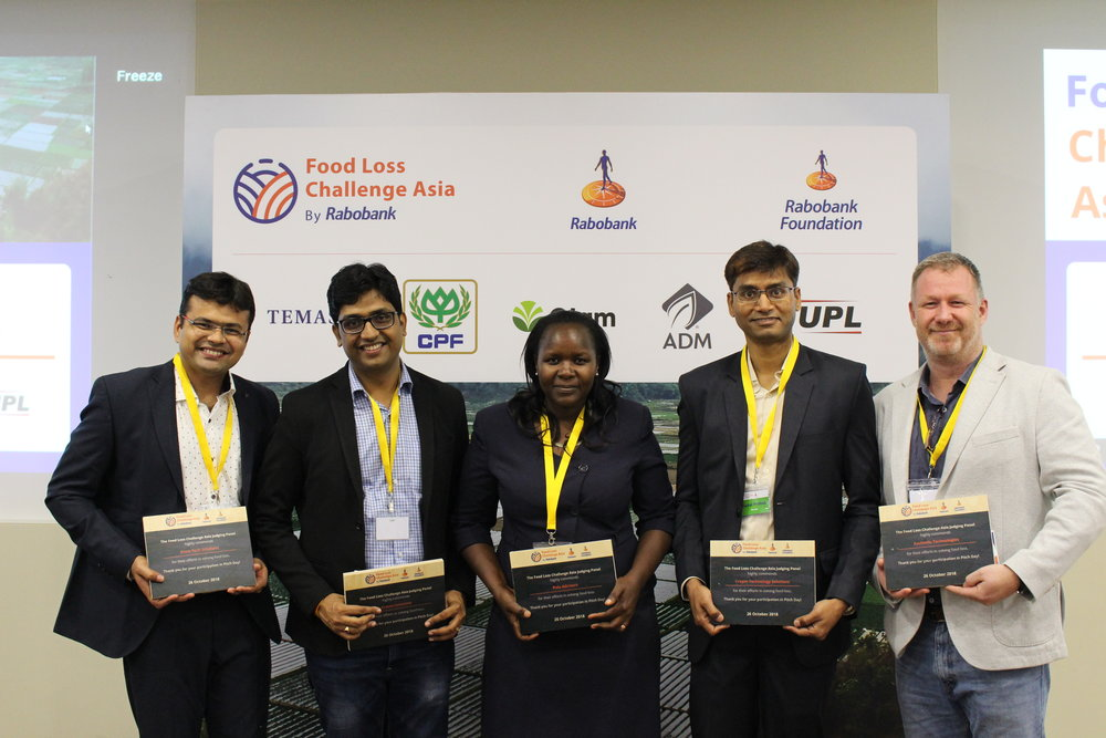 Top-five Finalists of the recently held Pitch Day of the Food Loss Challenge Asia which saw twenty teams vying to go to the Finale on 15 November 2018