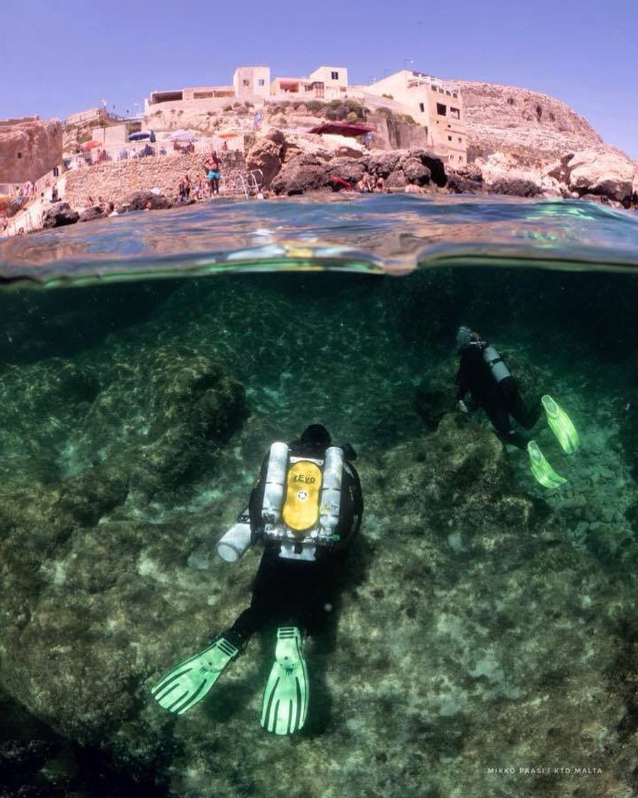 scuba diving in Malta is a popular sport.