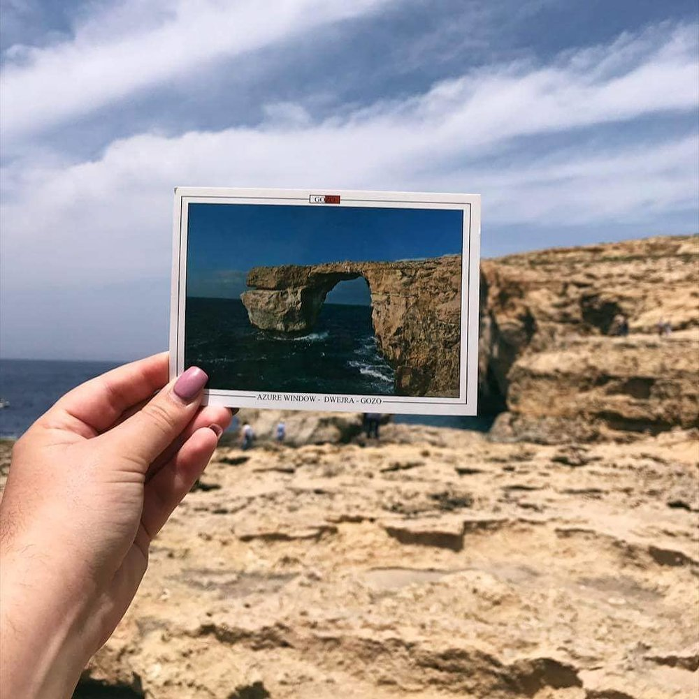 the previously azure window with souvenier post card