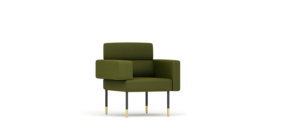 CUBE ARMCHAIR BRAND:  FNJI  WEB:   www.fnji.com  The Cube Armchair has an asymmetric structure with geometric shape, which is designed skillfully. The visually balance of Cube Armchair conveys the dynamic and interests of design. Geometrical armrests have both functional and creative feeling