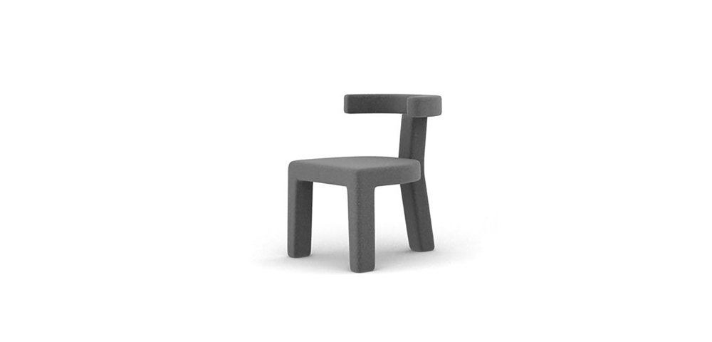 BING CHAIR BRAND:  ZIZAOSHE  WEB:   www.zizaoshe.com  BING Chair is made of wood and fabric. The arc backrest part echoes the semi-circular sitting surface which draws a half-moon outline. Every angle in its detail part is square with rounded shape, both toughness and gentleness.