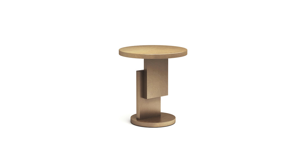 STACK TABLE BRAND:  FRANK CHOU  WEB:  www.frankchou.com Stack Table constituted by geometric elements presents the artistical outline. With brass color finishing and mottled texture, Stack Table shows slightly rough looking but with exquisite welding as one installation art.